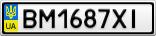 Номерной знак - BM1687XI