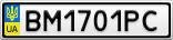 Номерной знак - BM1701PC