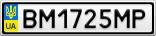Номерной знак - BM1725MP