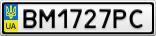 Номерной знак - BM1727PC