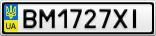 Номерной знак - BM1727XI