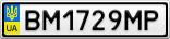 Номерной знак - BM1729MP