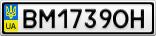 Номерной знак - BM1739OH