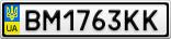 Номерной знак - BM1763KK