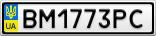 Номерной знак - BM1773PC
