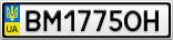 Номерной знак - BM1775OH
