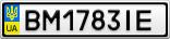 Номерной знак - BM1783IE