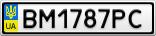 Номерной знак - BM1787PC