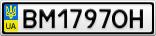 Номерной знак - BM1797OH