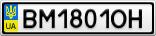 Номерной знак - BM1801OH