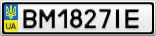 Номерной знак - BM1827IE