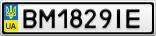 Номерной знак - BM1829IE