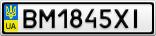 Номерной знак - BM1845XI