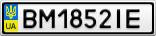 Номерной знак - BM1852IE