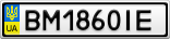 Номерной знак - BM1860IE