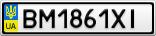 Номерной знак - BM1861XI
