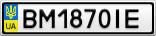 Номерной знак - BM1870IE