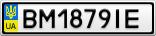 Номерной знак - BM1879IE
