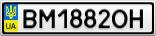 Номерной знак - BM1882OH