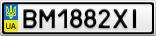 Номерной знак - BM1882XI