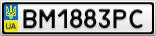 Номерной знак - BM1883PC