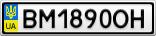 Номерной знак - BM1890OH