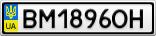Номерной знак - BM1896OH