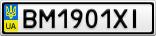 Номерной знак - BM1901XI