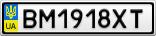 Номерной знак - BM1918XT