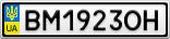 Номерной знак - BM1923OH
