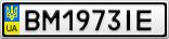 Номерной знак - BM1973IE