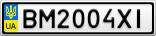 Номерной знак - BM2004XI