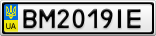 Номерной знак - BM2019IE