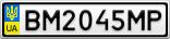 Номерной знак - BM2045MP