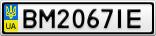 Номерной знак - BM2067IE