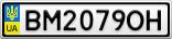 Номерной знак - BM2079OH