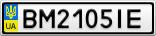 Номерной знак - BM2105IE