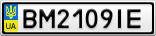 Номерной знак - BM2109IE