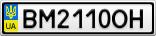 Номерной знак - BM2110OH