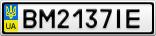 Номерной знак - BM2137IE