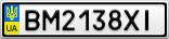 Номерной знак - BM2138XI