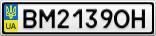 Номерной знак - BM2139OH