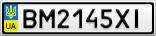 Номерной знак - BM2145XI