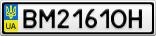 Номерной знак - BM2161OH