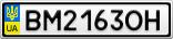 Номерной знак - BM2163OH