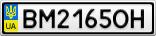 Номерной знак - BM2165OH