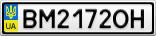 Номерной знак - BM2172OH