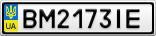 Номерной знак - BM2173IE