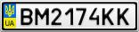 Номерной знак - BM2174KK