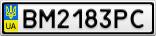 Номерной знак - BM2183PC